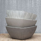 Цветы и флористика handmade. Livemaster - original item Pots out of concrete for flowers, succulents, cactus, grey. Handmade.