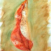 """Картины и панно ручной работы. Ярмарка Мастеров - ручная работа Акварель """"Лист"""". Handmade."""