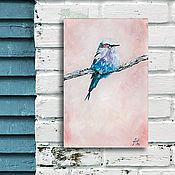 Картины и панно ручной работы. Ярмарка Мастеров - ручная работа Птичка-невеличка. Handmade.