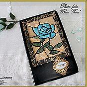 """Фотоальбомы ручной работы. Ярмарка Мастеров - ручная работа Фотопапка """"Blue Rose"""". Handmade."""