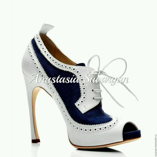 Обувь ручной работы. Ярмарка Мастеров - ручная работа. Купить ботинки. Handmade. Комбинированный, ручная работа, ручная авторская работа