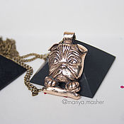 Украшения handmade. Livemaster - original item A large family of bronze pugs. Handmade.