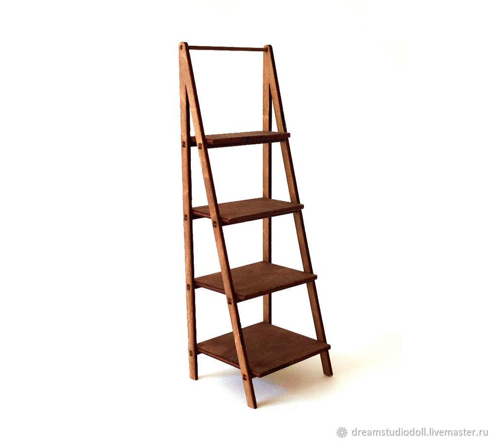 Rack-ladder for dolls.