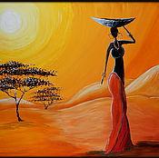 """Картины ручной работы. Ярмарка Мастеров - ручная работа Картина """" Африка"""" на заказ. Handmade."""