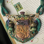 "Украшения ручной работы. Ярмарка Мастеров - ручная работа ""The Thistles of old Edinburgh"" колье-кулон. Handmade."