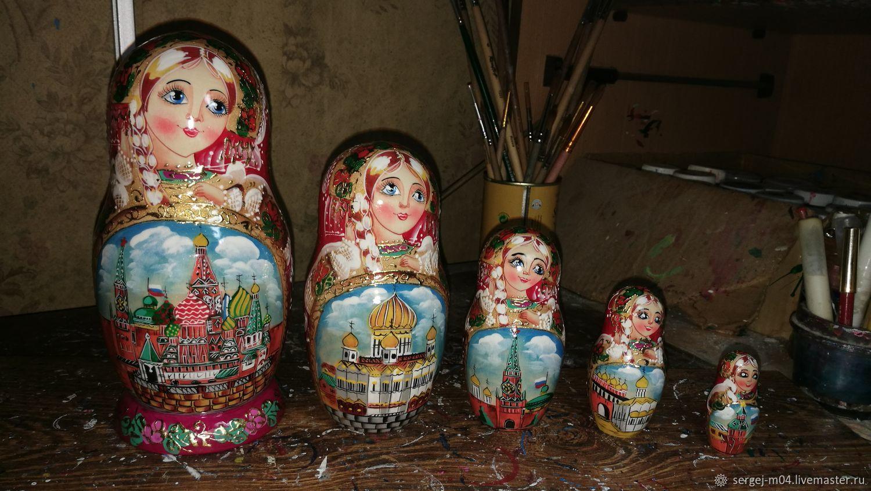 """Матрёшка """"Москва"""" 5 мест, Матрешки, Москва,  Фото №1"""