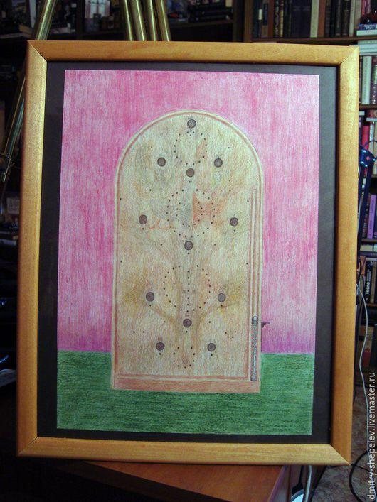 Натюрморт ручной работы. Ярмарка Мастеров - ручная работа. Купить Славянский пинбол. Handmade. Комбинированный, карандаши цветные, дерево