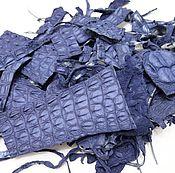 Мех ручной работы. Ярмарка Мастеров - ручная работа Обрезки кожи крокодила 100 грамм. Handmade.