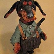 Куклы и игрушки ручной работы. Ярмарка Мастеров - ручная работа Такса плюшевая. Handmade.