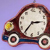 """Для дома и интерьера ручной работы. Ярмарка Мастеров - ручная работа Часы """"Машинка"""". Handmade."""
