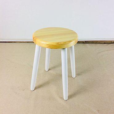 Мебель ручной работы. Ярмарка Мастеров - ручная работа Табурет модель LUNA светлый. Handmade.