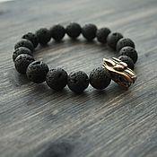 Украшения handmade. Livemaster - original item Bracelet of natural stone with the wolf. Handmade.
