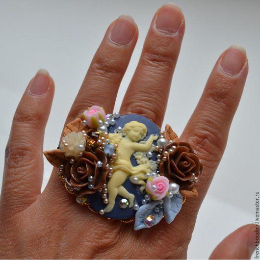 """Кольца ручной работы. Ярмарка Мастеров - ручная работа. Купить Перстень в стиле Рококо  """"Chocolate Angel"""". Handmade. Барокко, бохо"""