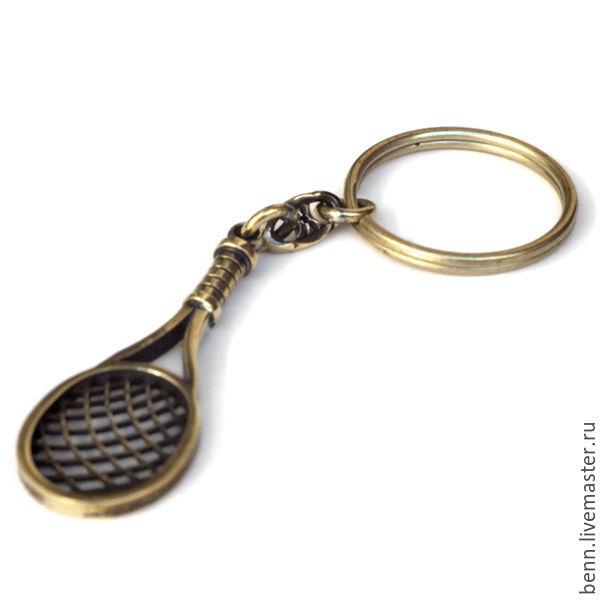 Брелок Теннисная ракетка Кулон Ракетка Подвеска Ракетка Для теннисиста