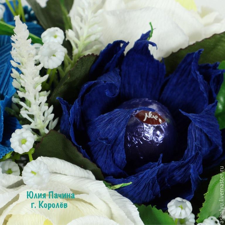 Цветы темно синие