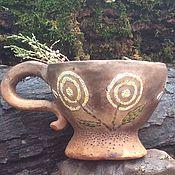 Посуда ручной работы. Ярмарка Мастеров - ручная работа Чашка Одуванчики керамика. Handmade.
