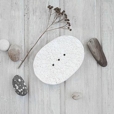 Косметика ручной работы. Ярмарка Мастеров - ручная работа Белая овальная ажурная мыльница. Handmade.