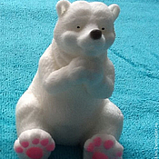 Материалы для творчества handmade. Livemaster - original item Silicone molds for soap polar bear sitting. Handmade.