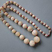 Бусы баламуты натуральный перламурт шары ожерелье длина 46 см