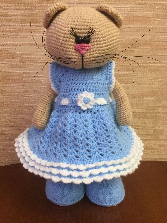 Кошка-тильда в платье, Мягкие игрушки, Краснодар,  Фото №1