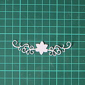 Материалы для творчества ручной работы. Ярмарка Мастеров - ручная работа вырубка маленький цветок. Handmade.
