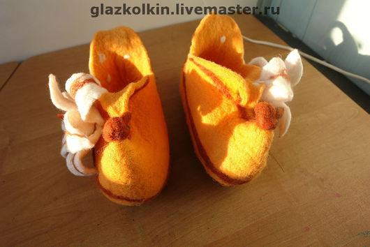 """Обувь ручной работы. Ярмарка Мастеров - ручная работа. Купить Домашние тапочки """"Лилейные"""". Handmade. Обувь ручной работы"""
