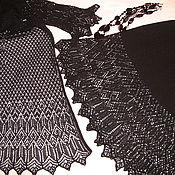 Одежда ручной работы. Ярмарка Мастеров - ручная работа Вязаный костюм черный ажур. Handmade.