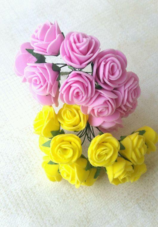 Другие виды рукоделия ручной работы. Ярмарка Мастеров - ручная работа. Купить Роза из фоамирана диаметр 2см. Handmade. желтый