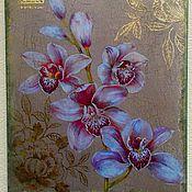 Для дома и интерьера ручной работы. Ярмарка Мастеров - ручная работа Панно ``Орхидея``. Handmade.