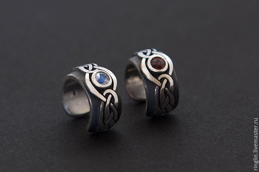 Celtic earcuff with gemstone, Cuff Earrings, Moscow,  Фото №1