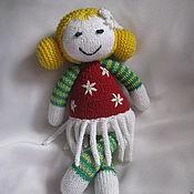 Куклы и игрушки ручной работы. Ярмарка Мастеров - ручная работа Вязаные куклы-цветочки. Handmade.