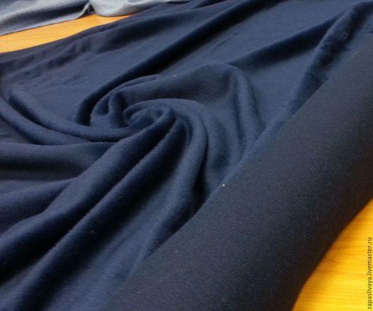 Шитье ручной работы. Ярмарка Мастеров - ручная работа. Купить Пальтовая ткань Max Mara Синяя альпака. Handmade.