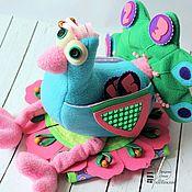 Мягкие игрушки ручной работы. Ярмарка Мастеров - ручная работа Развивающая игрушка Павлин Гоша. Handmade.