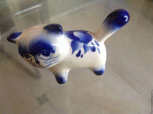Винтажные предметы интерьера. Ярмарка Мастеров - ручная работа. Купить Статуэтка кошка Винтаж. Handmade. Синий, статуэтка кошки, котэ