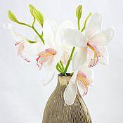 Цветы и флористика ручной работы. Ярмарка Мастеров - ручная работа Орхидея цимбидиум из полимерной глины.. Handmade.