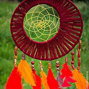 """Фен-шуй и эзотерика ручной работы. Ярмарка Мастеров - ручная работа Ловец снов """"Тотем"""" бордо. Handmade."""