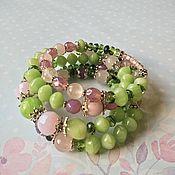 Украшения handmade. Livemaster - original item A bracelet made of beads: Morning. Spring. Handmade.