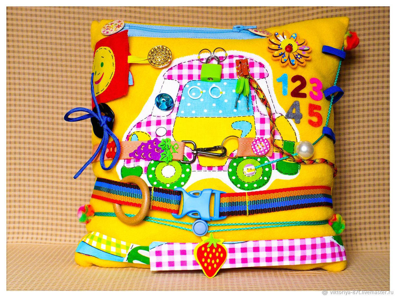 Развивающая подушка для малышей, Бизиборды, Санкт-Петербург,  Фото №1