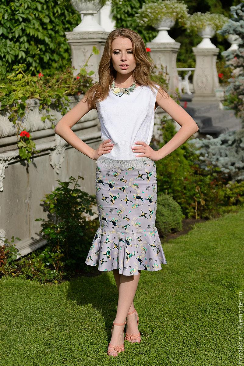f60ab7cbf Online shopping on My Skirts handmade. Order Skirt fish cotton birds.  mozaika-rus. Livemaster.