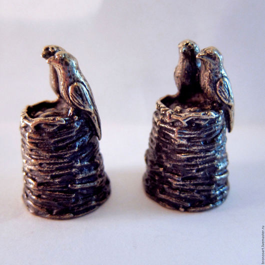 Статуэтки ручной работы. Ярмарка Мастеров - ручная работа. Купить Декоративный коллекционный наперсток милые птички бронзовый. Handmade. Наперсток
