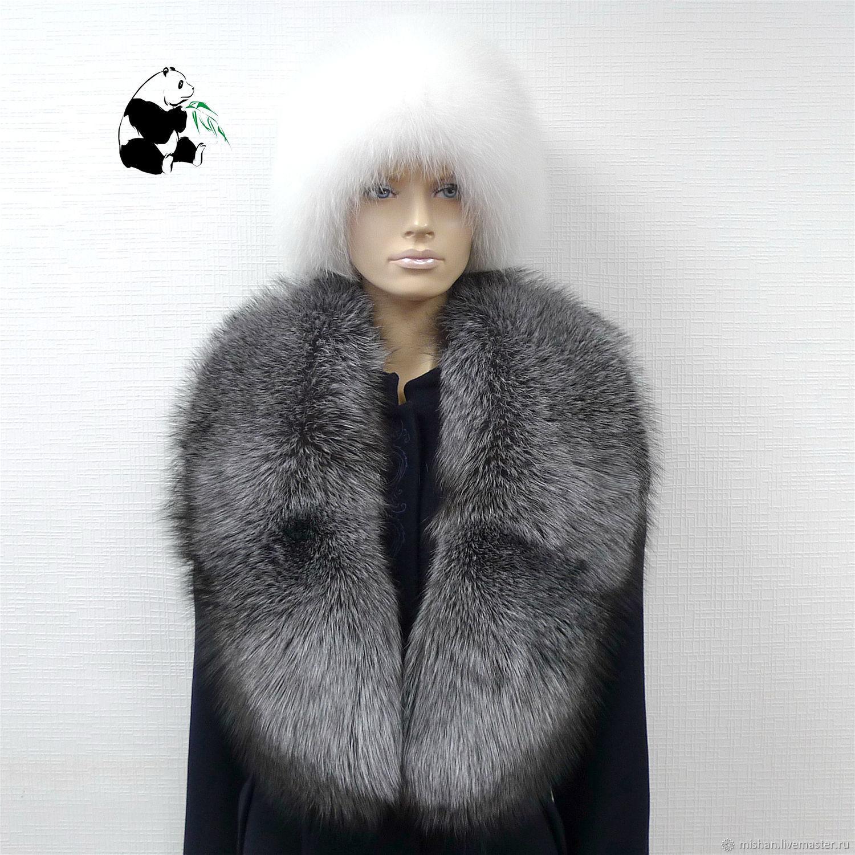Fur detachable collar boa Fox fur.TC-305, Collars, Ekaterinburg,  Фото №1