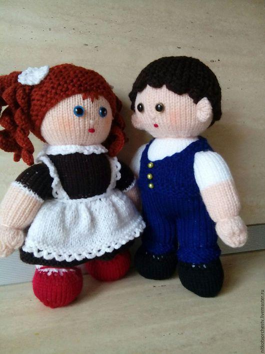 Человечки ручной работы. Ярмарка Мастеров - ручная работа. Купить Вязаные куклы Ученики. Handmade. Кукла ручной работы