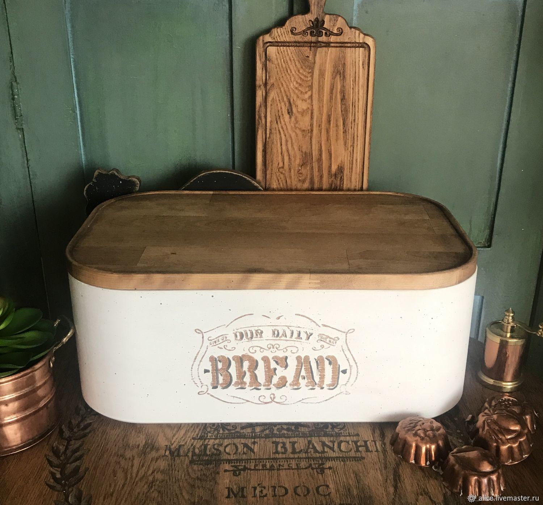 Кухня ручной работы. Ярмарка Мастеров - ручная работа. Купить Хлебница овальная. Handmade. Белый, прованс стиль