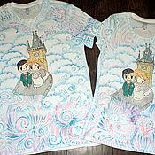 Одежда ручной работы. Ярмарка Мастеров - ручная работа Парные футболки Love is.. в Праге. Handmade.