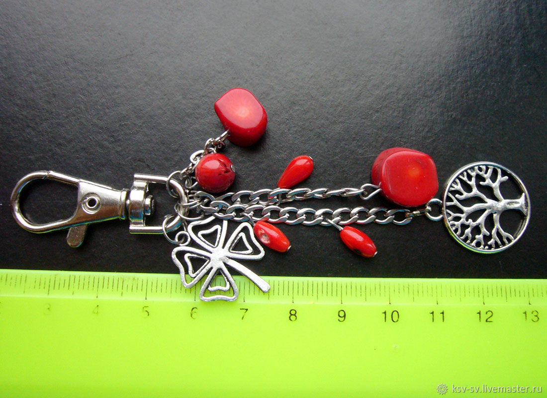 Брелки на сумку или ключи с кораллами