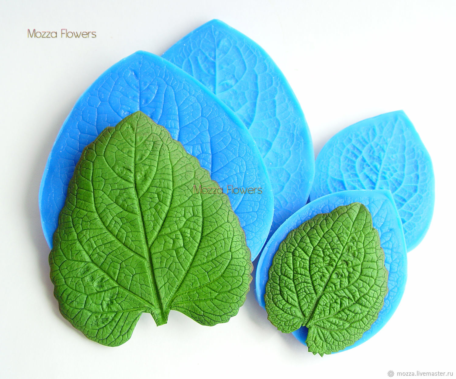 'Ageratum leaf ' Silicone mold , Molds for making flowers, Zarechny,  Фото №1
