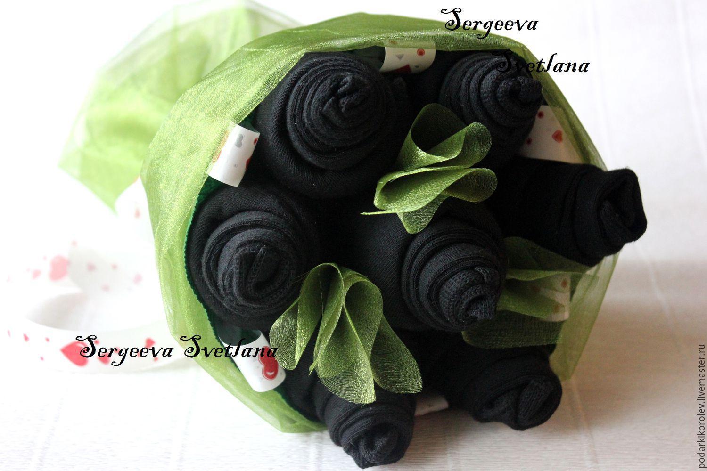 Фото букет из носков для мужчины