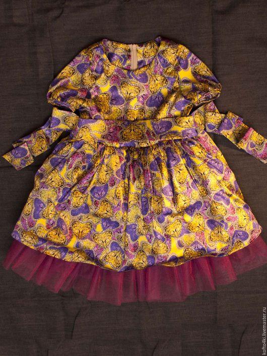Одежда для девочек, ручной работы. Ярмарка Мастеров - ручная работа. Купить Платье для девочки из натурального итальянского шелка. Handmade. Комбинированный