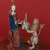 Куклы и игрушки ручной работы. Ярмарка Мастеров - ручная работа Дама со Львом. Кукла авторская.. Handmade.