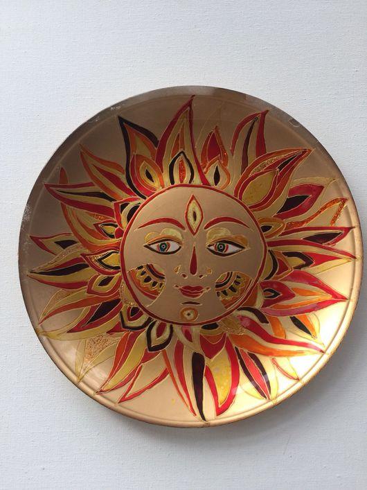 Декоративная посуда ручной работы. Ярмарка Мастеров - ручная работа. Купить Декоративная тарелка Солнце. Handmade. Солнце, тарелка сувенирная